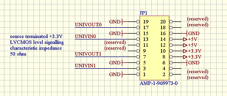 Universal I/O Module Socket Schematic